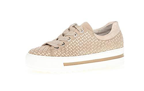 Gabor Damen Sneaker, Frauen Halbschuhe,lose Einlage,Moderate Mehrweite (G),weiblich,Ladies,Women\'s,Woman,schnürschuhe,Desert/Puder,39 EU / 6 UK