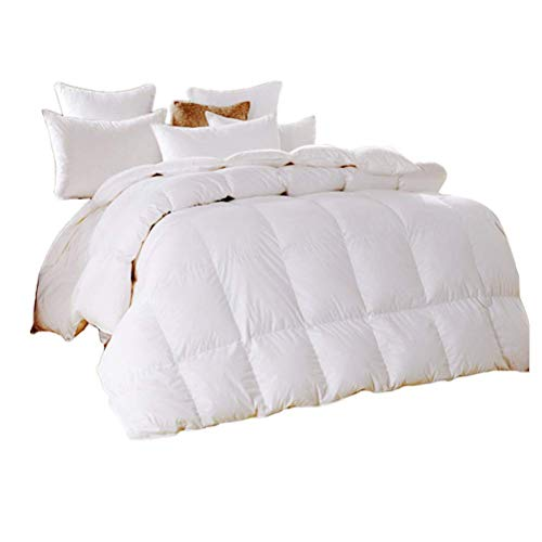 100% White Superfine Fiber Cotton Duvet Quilt Filling 90% Goose Down With 3D Bread Shape Design Cotton Cover Winter Thicken Antimicrobial Comforter For Hotel Dedicated,queen/200x230cm