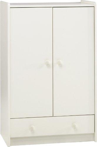 Steens For Kids Kleiderschrank, Kinderzimmerschrank mit Wäscheeinnteilung, 79 x 123 x 53 cm (B/H/T), MDF , weiß