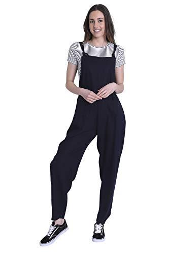 Wash Clothing Company Jumpsuit voor dames - linnen - marineblauw Playsuit Lichte ROXANNENAVY