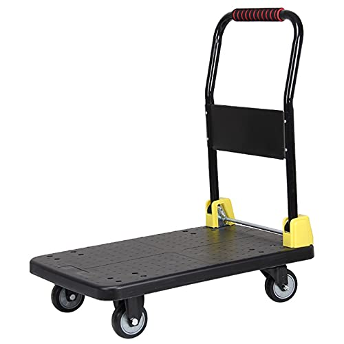 DALIZHAI777 Hand Truck Foldable Push Hand Cart for Loading and Storage Platform Truck Trolley with 360 Degree Swivel Wheels Large Loading Capacity Platform Cart (Color : Q 9)
