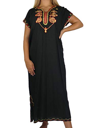 Marrakech Accessoires Orientalisches Kleid Kaftan Tunikakleid Strandkleid Sommerkleid Maxi - 905762-0008, Grösse:L