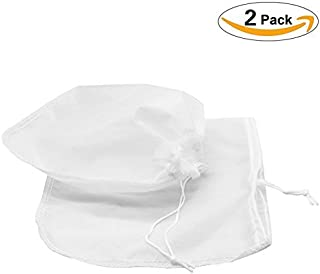 2 Pack Nut Milk Bag, Large Fine Mesh Strainer by WDHome-Reusable Almond Milk Bag-Cheesecloth Strainer -Cold Brew Coffee Yogurt Strainer-Juicing and Sprouting-12 x 12-200 Micron