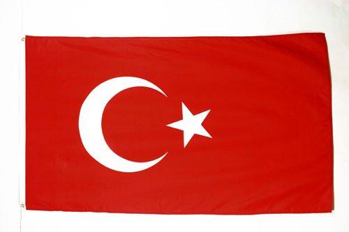 AZ FLAG Flagge TÜRKEI 90x60cm - TÜRKISCHE Fahne 60 x 90 cm - flaggen Top Qualität