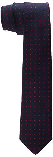 s.Oliver Jungen 62.911.91.2875 Krawatten-& Fliegen-Set, Blau (Dark Blue AOP 59b6), 2 (Herstellergröße: 2)