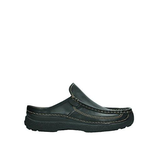 Wolky Comfort Pantoletten Roll Slide Men - 50000 schwarz Leder - 43