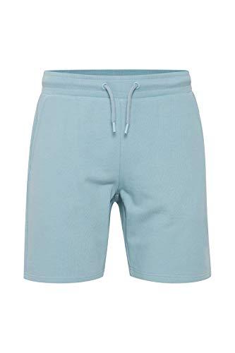 Indicode Kennan Herren Sweatshorts Kurze Hose Jogginghose mit Kordelzug, Größe:XL, Farbe:Blue Wave (475)