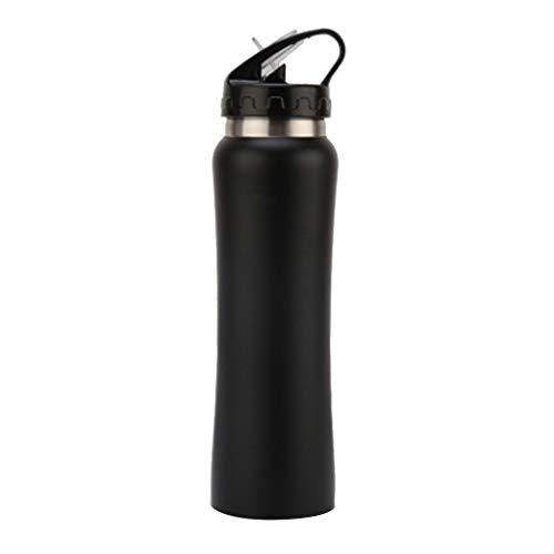 YO-HAPPY 500ml Taza aislada de Acero Inoxidable de Doble Capa Caliente Resistente al frío café Agua portátil Taza para Beber Frasco Botella Deportiva