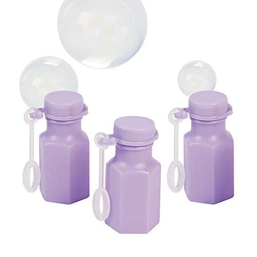48 x Mini Lilac Hexagon Bubble Bottles