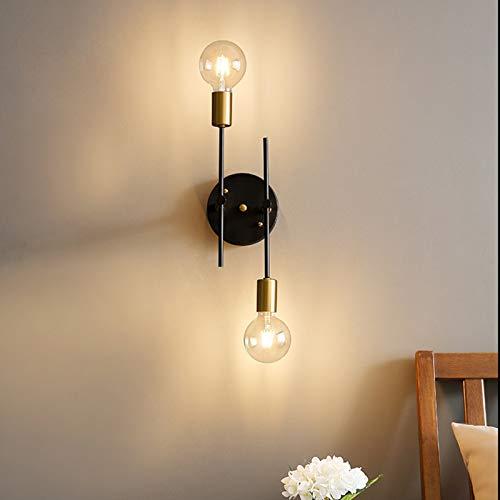 FLAUU Simple Moderno Lámpara De Techo 2 Luces Plafón De Techo Nórdico Creativo Personalidad Estilo Escandinavo Metal Luces De Pared para El Dormitorio Balcón Corredor(Bombilla No Incluida)