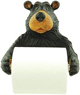 Willie Black Bear Holding Roll Of Toilet Tissue Wall Mounted Toilet Paper Holder Rack 19cm
