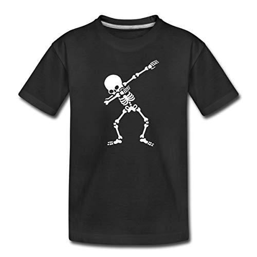 Dab Skelett Dabbing Gerippe Halloween Teenager Premium T-Shirt, 158/164 (12 Jahre), Schwarz