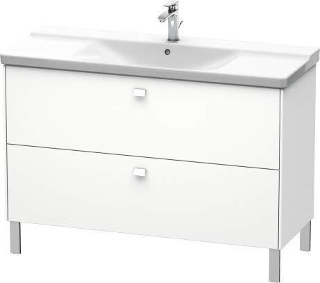 Duravit Brioso Vanity unit staand 122,0 x 47,9 cm, 2 lades, voor wastafel P3 Comforts 233212, Kleur (voorzijde/karkas): Wit mat decor, handvat chroom - BR441301018