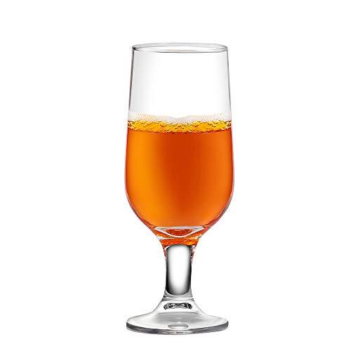 Umi. Essentials - Juego de 6 vasos de cerveza de cristal sin plomo, ideales también para cócteles, agua, zumo, refrescos y otras bebidas, para usar en casas, bares y restaurantes, 260 ml