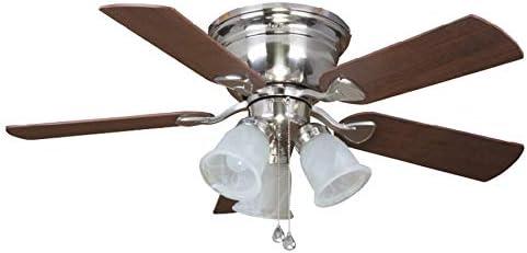 new arrival Harbor Breeze Centreville 42-in Brushed Nickel lowest Indoor Flush outlet sale Mount Ceiling Fan with Light Kit outlet sale