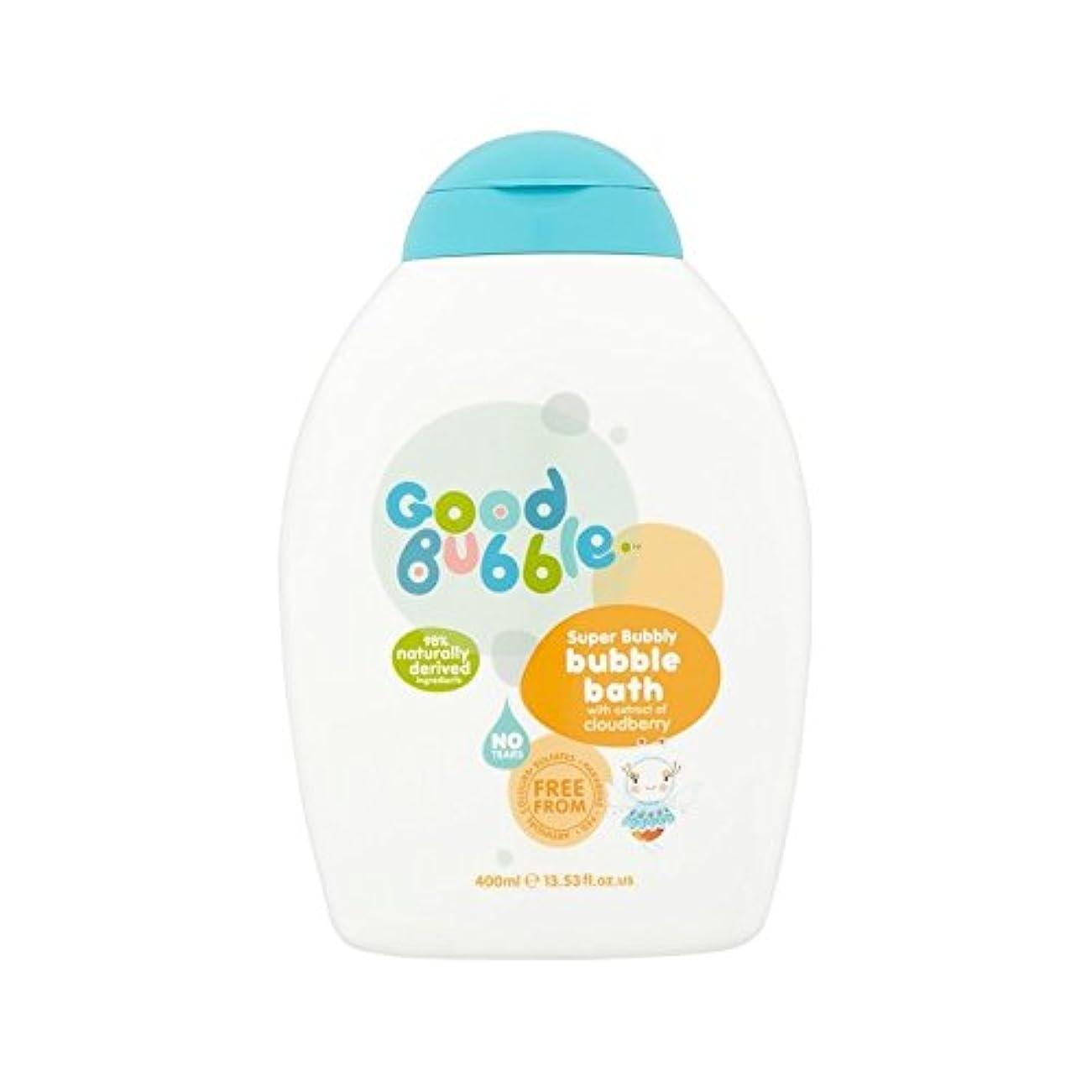入場警告する茎クラウドベリーエキスの400ミリリットルと泡風呂 (Good Bubble) (x 2) - Good Bubble Bubble Bath with Cloudberry Extract 400ml (Pack of 2) [並行輸入品]