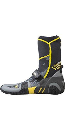 GUL Viper Botas de Traje de Neopreno con Punta Dividida de 5 mm Negro Amarillo - Bota de Neopreno súper Flexible y Liviana - Dry rápido
