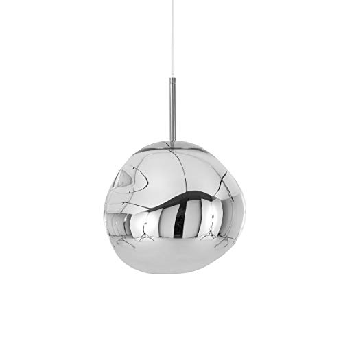 Tom Dixon – Lampada a sospensione, lampada – Melt, Mini Melt – Colore: argento cromato EU – Ø: 27 cm
