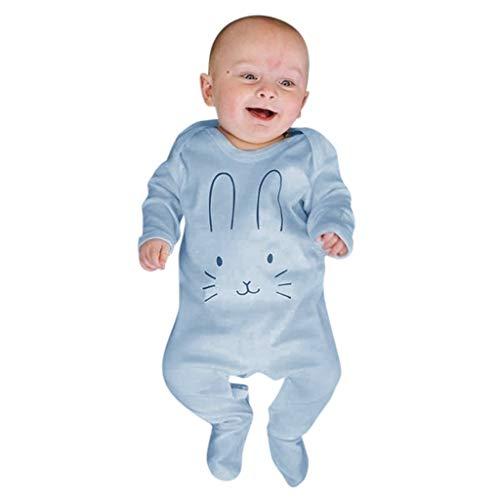 Pijama de bebé de invierno de chenilla, mono con impresión de dibujos animados, conejo de manga larga para bebé recién nacido, peto para el niño de las niñas, disfraz 2019 de otoño 18-24 Meses turquesa