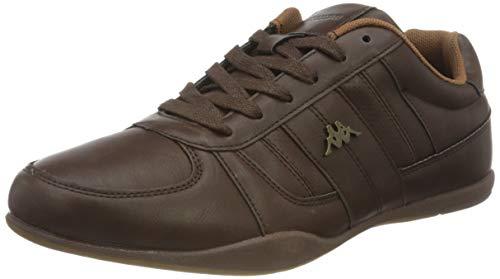 Kappa VIRANO, Zapatillas Deportivas para Hombre, marrón/Oro/Amarillo, 42 EU