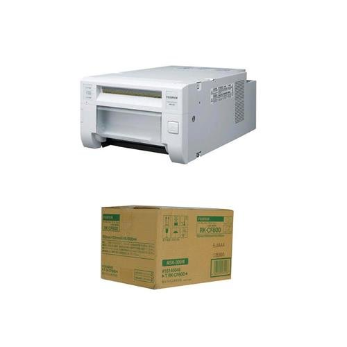 Fujifilm Ask 300 Quick Print Station Dye-Sublimation Digital Printer System 4 x 6 Dye-Sub Media for ASK-300 (800 Prints)