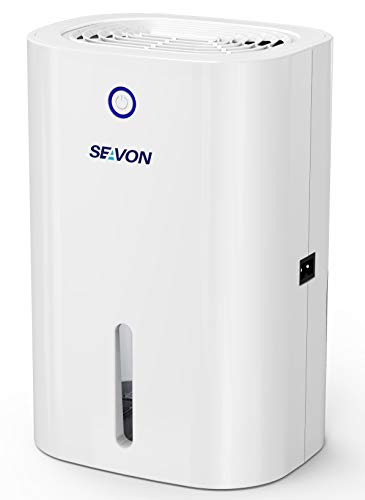 SEAVON Electric Mini Dehumidifier, 2000 Cubic Feet (228 sq ft), Auto Shut Off, Portable and Compact 800ml Capacity Quiet Small Dehumidifiers for Home, Basements, Closet, Bedroom, Bathroom, RV, Kitchen