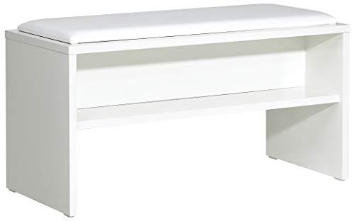 PELIPAL Solitaire 6005 Sitzbank/Weiß / 90 x 48 x 40 cm