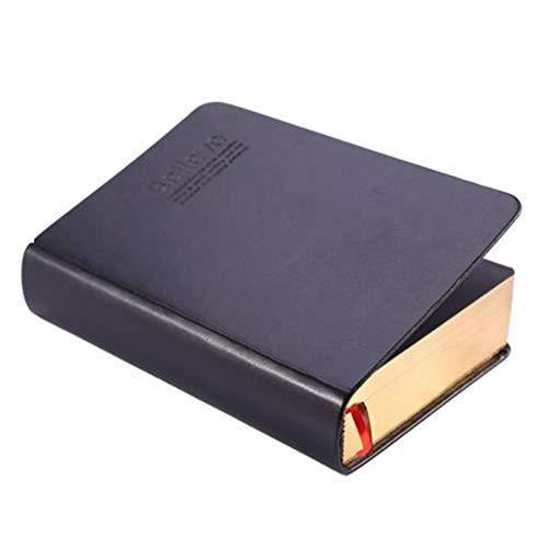 Jaimenalin Cuaderno con Forro de Papel Grueso Retro Bloc de Notas de Cuero Diario de la Biblia Libro de Diarios Agenda Planificador Escuela Oficina PapeleríA, Oro