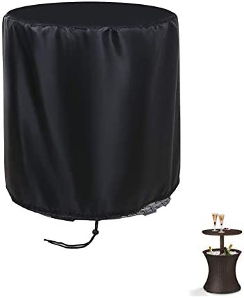 POMER Patio Bar Table Cover Round 21x23inch Outdoor Pool Cooler Table Cover for 7 5 Gallon Beer product image