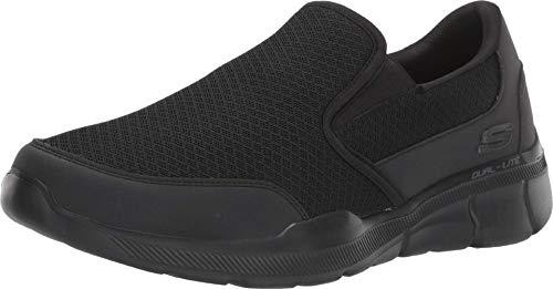 Skechers Equalizer 3.0, Zapatillas Deportiva con Detalles de Costuras sin Cordones Hombre, Negro (BBK Black Mesh/PU/Trim), 41.5 EU