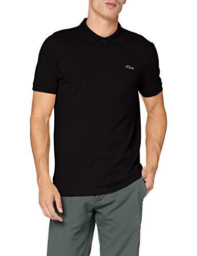 s.Oliver Herren 130.10.101.13.130.2064945 Polohemd, Black, XL