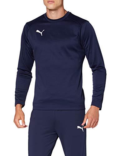 Puma Herren Liga Training Sweat Sweatshirt, Peacoat White, S