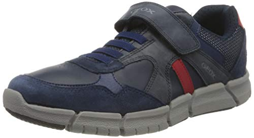 Geox J FLEXYPER Boy C, Zapatillas Niños, Azul (Navy/Red), 30 EU