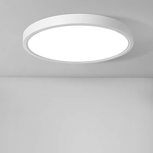 36W LED Deckenleuchte, bapro φ30cm Deckenlampe Bad 2200LM 6500K Kaltweiß Mordern Badezimmerlampe für Badezimmer Küche Wohnzimmer Balkon Flur Schlafzimmer Büro[Energieklasse A+]