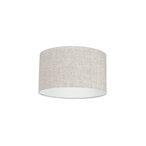 QAZQA Modern Polyester Lampenschirm 35/35/20 zylinder grau-weiß, Rund gerade Schirm Pendelleuchte,Schirm Stehleuchte