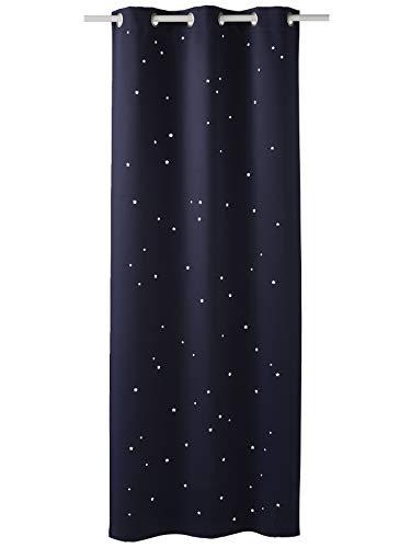 Vertbaudet Verdunkelungsvorhang mit ausgestanzten Sternen Marine 135X180