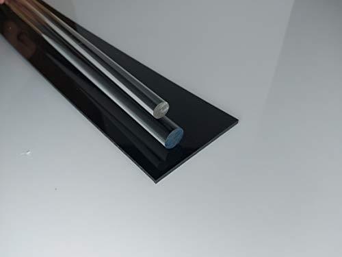 Barre ronde acrylique, Ø 5 mm longeur 1000 mm transparente (plexiglass)