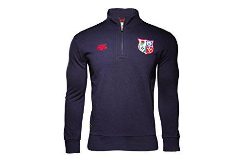 British & Irish Lions 2017 1/4 Zip Cotton Rugby Training Sweat - Navy - Size S
