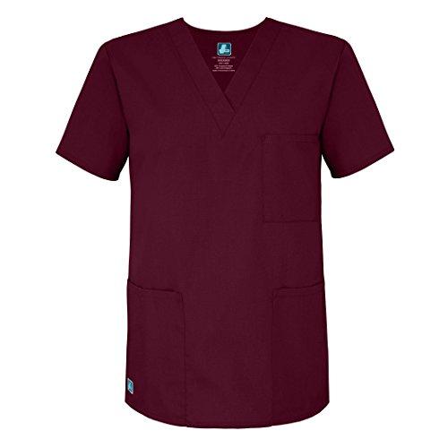 Adar Uniforms Womens 601BRGXS Medical Scrubs Shirt, Rot (Burgundy), X-Small-US