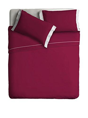 Ipersan Parure Lit Double Color Bordeaux/Beige cm. 240x290
