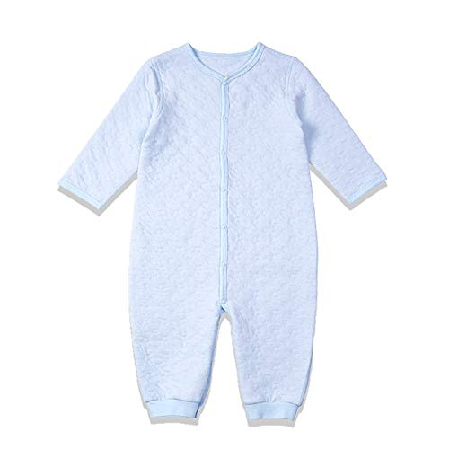 i-baby Mameluco de algodón Premium Matelasse Pima envasado en una Bonita Caja (3-6meses, Azul)