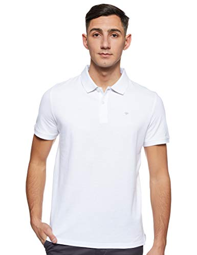 Tom Tailor Basic Camisa de polo Blanco ( 20000/ Blanco ) , XL para Hombre