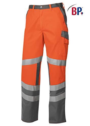 BP 2110-845-8553-62n Arbeitshosen, mit elastischem Rückenteil, 270,00 g/m² Stoffmischung, Warnorange/dunkelgrau, 62n