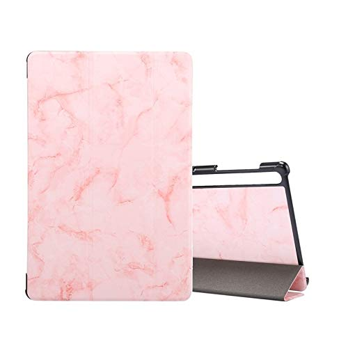 WEI RONGHUA Tablet Cases For Samsung Galaxy Tab S7 T870 Marble Texture Pattern Horizontal Flip Leather Case, with Three-folding Holder & Sleep/Wake-up accessories (Color : Pink)