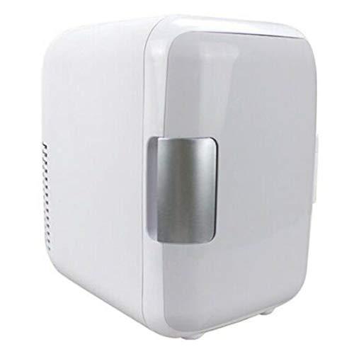 lefeindgdi Mini nevera para coche, mini 4L de refrigeración para el coche, refrigerador de calentamiento, portátil cosmético de maquillaje de doble uso para el hogar y el coche