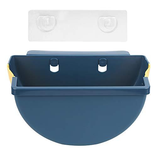 HERCHR Halbkreis Haushalts Mülleimer, hängender Mülleimer Faltbarer Mülleimer für Küchenschrank Tür Schreibtisch 10,6 x 5,9 x 5,7 Zoll(Marine)