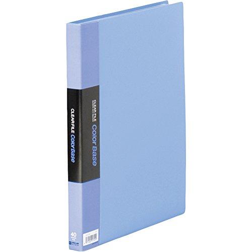 キングジム クリアファイル カラーベース A4タテ 40枚 ブルー 132CW