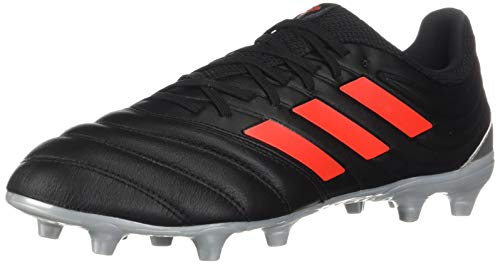 adidas Men's Copa 19.3 Firm Ground Soccer Shoe, Black/hi-res red/Silver Metallic, 6.5 M US