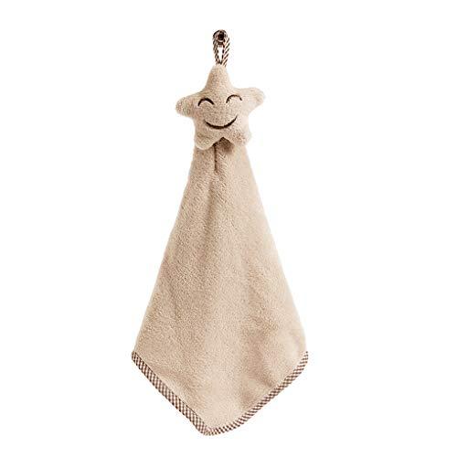 Guangcailun La Cara Sonriente Que cuelga de la Mano s Gorro para el Cabello seco Cocina seco Coral Velvet Absorbente del paño Libre de Pelusa para paños de Cocina