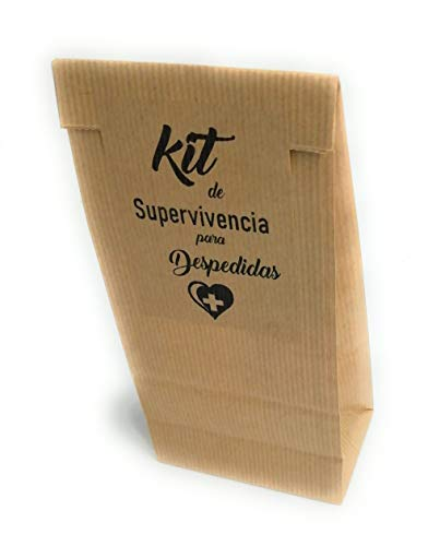 25 Bolsas kraft Kit de Supervivencia para despedidas de soltera